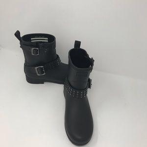 Hunter Studded Biker Rain Boot Perfect Condition!
